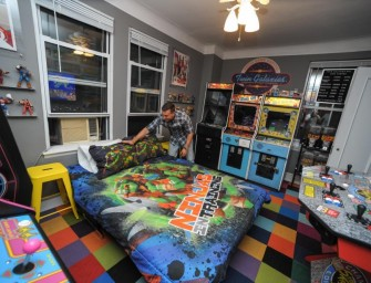 Classic video game arcade apartment costed this man his relationship!
