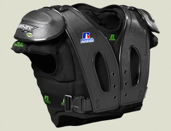 Carbon fiber shoulder pads promise to protect wearer from blows