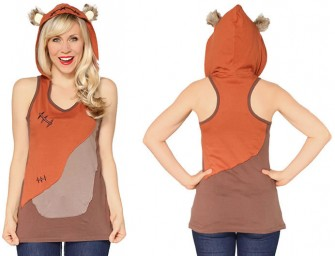 The Ewok Ladies Hooded Tank Top brings out your inner Ewok