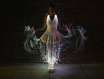 Glow like an ethereal angel in this DIY Fiber Optic Dress