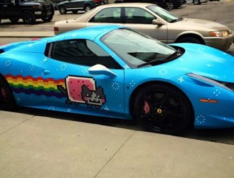 Deadmau5's Nyan Cat Ferrari is up for sale on Craigslist
