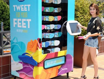Old Navy Flip-Flop Vending Machine can Save Your Feet