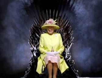 Queen Elizabeth II visits the set of Game Of Thrones