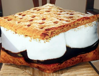 The S'mores Pillow: Dream about desserts and campfires and all things sweet