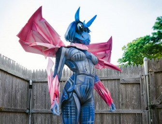 My Little Pony and Transformers body paint cosplay