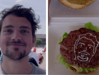 Personalize your burger with  3D-Printed Mayonnaise Selfies