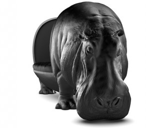 Hippopotamus Chair by Maximo Riera: Bring the jungle home