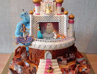This Aladdin Cake portrays the Arabian Nights magnificently