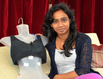 The SHE Electric Anti-Rape Bra delivers painful burns to sexual assailants