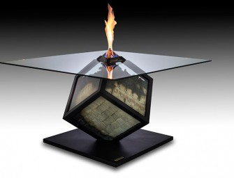Too Much: A table made out of Burning Euros