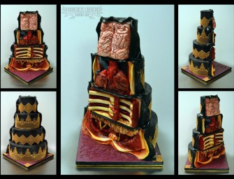 Dissected Cake Reveals Disgusting View of Bones and Organs