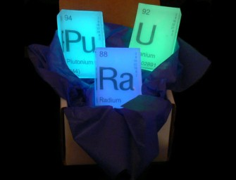 Periodic Element Nuclear Glow Soaps: Scientifically approved bath accessories
