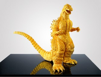 A $1.5 million 24-carat pure gold Godzilla replica celebrates the monster's 60th birthday