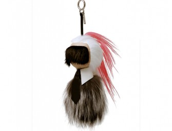 This expensive Fendi Keychain looks like Karl Lagerfeld!