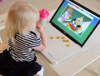 Kid Lid Cover saves Keyboard from Spills