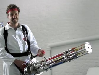 London engineer creates world's coolest Machine Gun Water Pistol using everyday parts