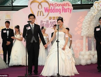 Mc Donald's wedding reception: A new fast food trend in Hong Kong