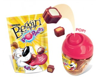 Purina Beggin' Party Poppers Dog Treats make a game out of snack time