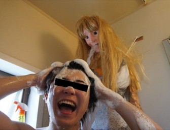 Lonely man turns his shower into a creepy girlfriend