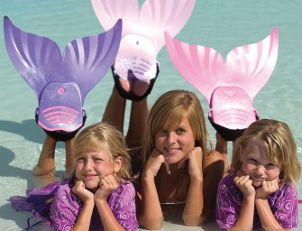 Mermaid Swim Fins Double Up Poolside Fun