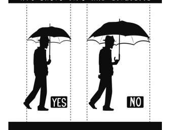 Umbrella Etiquette in a crowded city