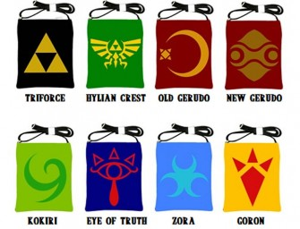 Zelda Symbol Sling Bags make a Solid Statement