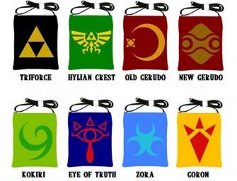 Zelda Symbol Sling Bags make a Solid Statement
