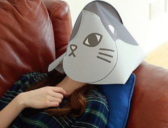 The Cat Cover Mask helps you catch forty winks in public without shame