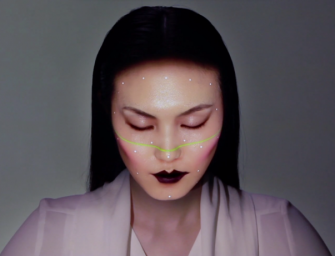 Omote projects virtual makeup and real time animations on your face