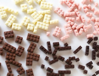 Edible Chocolate LEGO's can build a lot of calories!