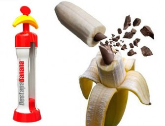 The Destapabanana Banana Injector turns the boring fruit into an exotic dessert