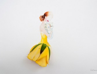 Artist Turns Flower Arrangements into High-Fashion Dresses