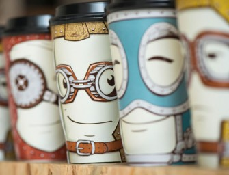Emotions Coffee Cup can be adjusted to reflect your mood that day