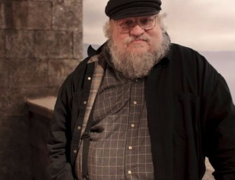 George R R Martin takes on the Ice Bucket Challenge, jumps into a swimming pool