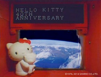 Hello Kitty Launched into Space via Satellite