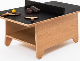 Ping Pong Table by Huzi: Coffee table, chalkboard, gaming centre, all in one