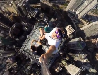 Gutsy Hong Kong Teenagers take Selfie on Fifth-tallest Skyscraper