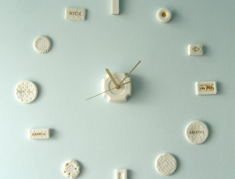 Time for Tea Clock With British Cookie Numerals