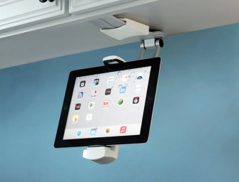 Under Cabinet iPad Dock saves your gadget from Spills and Stains