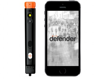 The Defender Smart Personal Protection System brings pepper spray to the 21st Century