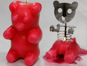 The Gummi Bear Skeleton Candle: Cute exterior with a demon inside