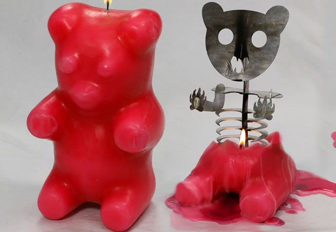 The Gummi Bear Skeleton Candle Cute Exterior With A Demon
