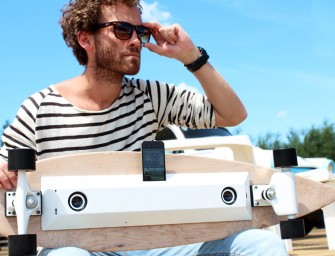 The Chargeboard is a genius skateboard that uses kinetic energy to recharge your phone on the go