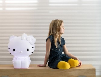 This Hello Kitty Lamp glows, but in a snazzy way!