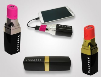 Lipstick Battery Charger will add power to your makeup bag!