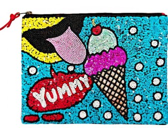 The Sequins Ice Cream Clutch: A fun bag to dress up any ensemble