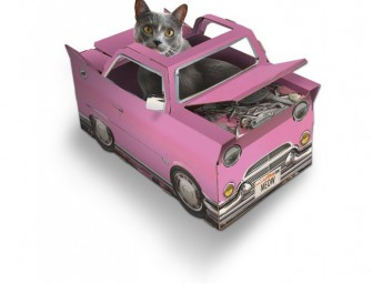 Suck UK Catillac Playhouse Cat Toy: A stylish cat needs the right ride