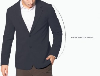 Coffee Infused Aviator Blazer keeps Men Fresh