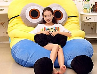 Cuddle into a funny Despicable Me Minions Sofa Bed Double Mattress today