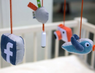 A line of baby toys lets them connect to their own Facebook account before they can even walk